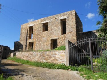 Crete Panormo-Bali traditional stone house for sale in the village of Siripidianna.